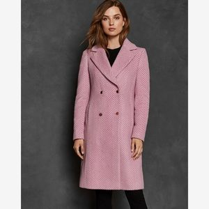 Ted baker saffra chevron double breasted jacket s